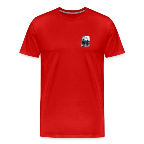 Small logo front/large on back - Men's Premium T-Shirt