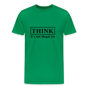 THINK (Flockdruck) - Männer Premium T-Shirt