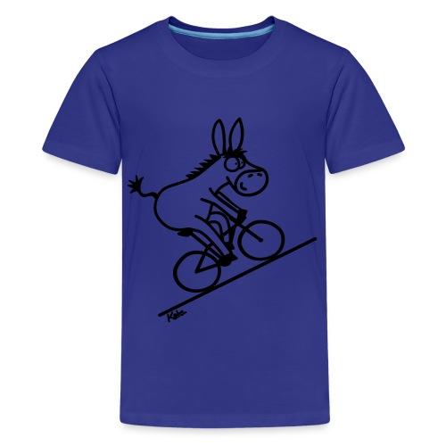 barn t-shirt - åsna blå - Premium-T-shirt tonåring