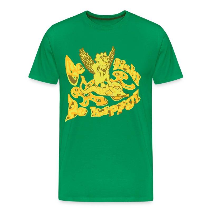 Go fish! Be happy!, t-shirt - Herre premium T-shirt