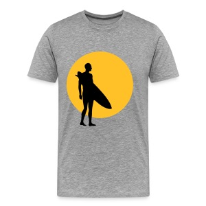Sun, Surf - Ash - Men's Premium T-Shirt