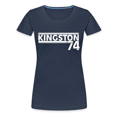 KINGSTON 74 BLANC - T-shirt Premium Femme