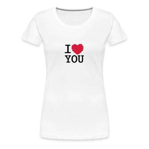 T-shirt femme I love you - T-shirt Premium Femme