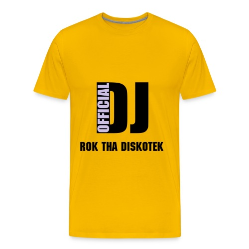 Rok Tha Diskotek T Yellow - Men's Premium T-Shirt