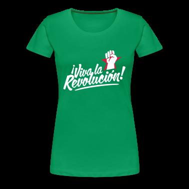 Kelly green revolution fist Women's T-Shirts