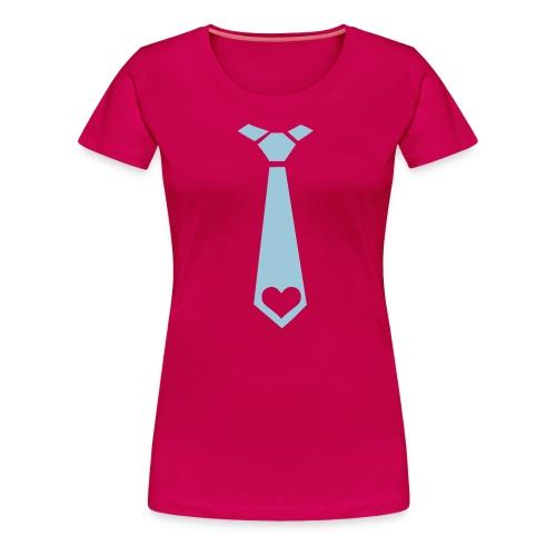 ladies tie tee - Women's Premium T-Shirt