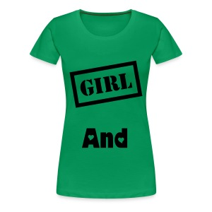 tee-shirt vert  girl and boy - T-shirt Premium Femme
