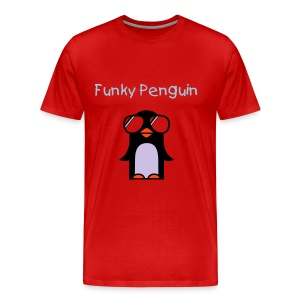 Funky Penguin - Burg - Men's Premium T-Shirt