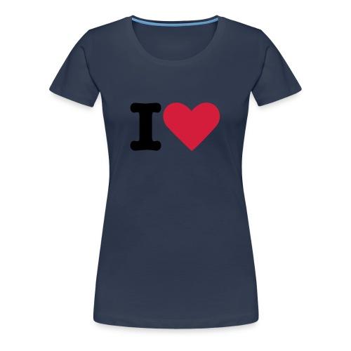 Jeans Blue I Love - Women's Premium T-Shirt