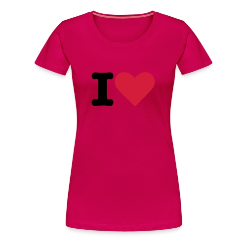 Light Pink I Love - Women's Premium T-Shirt