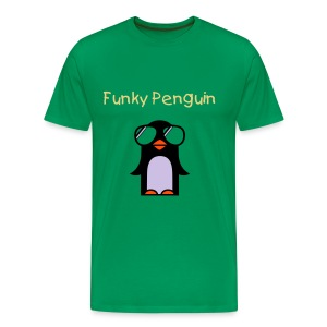 Funky Penguin - Sand - Men's Premium T-Shirt
