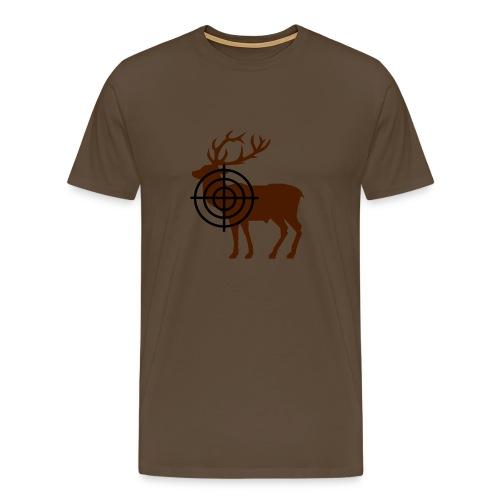 Blattschuss bruin - Mannen Premium T-shirt