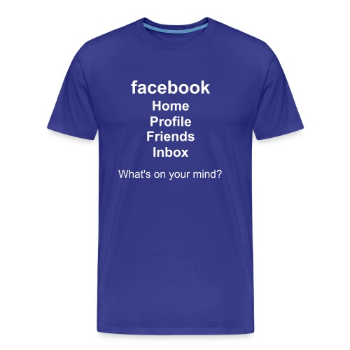 facebook - What's on your mind? - Men's Premium T-Shirt