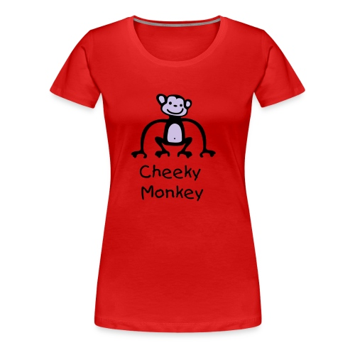 CHEEKY MONKEY 1 - Women's Premium T-Shirt