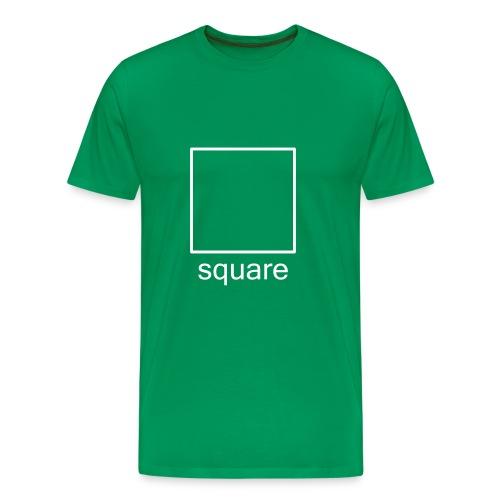 Men's Square Ts - white square - Men's Premium T-Shirt