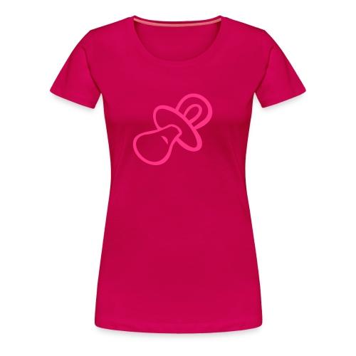 Pacifier T-Shirt (pink) - Women's Premium T-Shirt