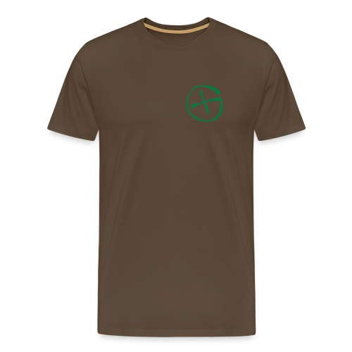 Basis-T-Shirt Geocaching braun Logo klein - Männer Premium T-Shirt