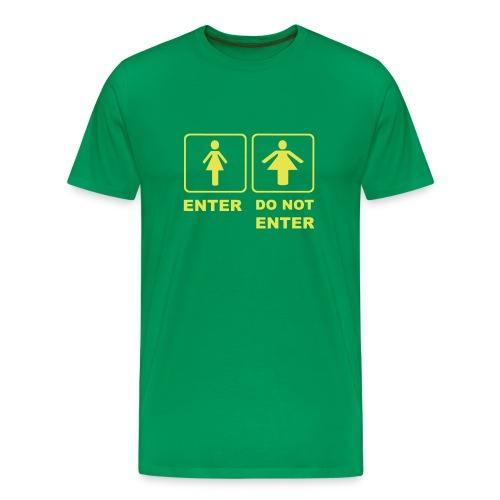 The girl u want - Men's Premium T-Shirt