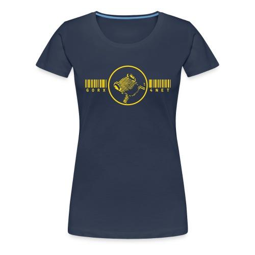 barcode frosch girl - Frauen Premium T-Shirt