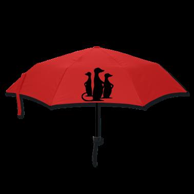 Red meerkat Umbrellas