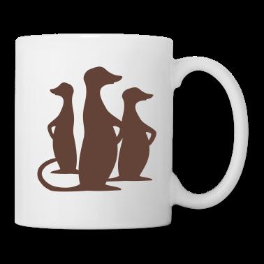 White meerkat Mugs