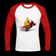 Langærmede t-shirts ~ Langærmet herre-baseballshirt ~ Let out the wildcat, baseballshirt