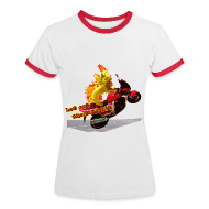 T-shirts ~ Dame kontrast-T-shirt ~ Let out the wildcat, girlieshirt