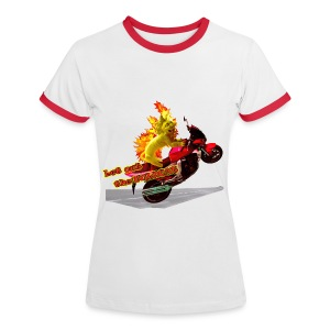 Let out the wildcat, girlieshirt - Dame kontrast-T-shirt
