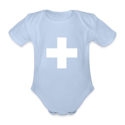 Schweizerkreuz-Strampler - Baby Bio-Kurzarm-Body