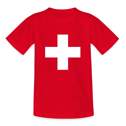 Schweizerkreuz-Kindershirt - Teenager T-Shirt