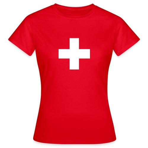 Schweizerkreuz-Frauenshirt - Frauen T-Shirt