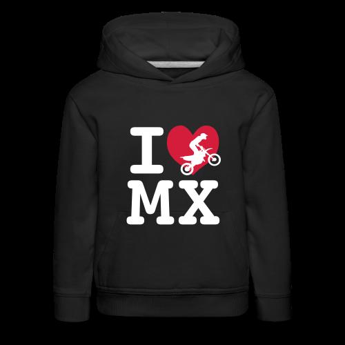 I love MX - Pull à capuche Premium Enfant