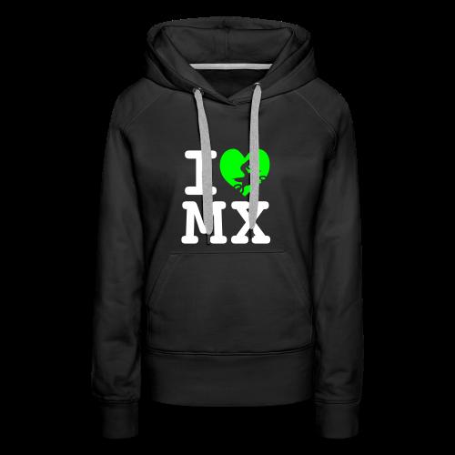 I love MX - Sweat-shirt à capuche Premium pour femmes