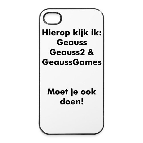 IPhone Cover: YT Kanalen kijken - iPhone 4/4s hard case