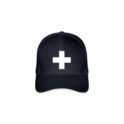Schweizerkreuz-Kappe - Flexfit Baseballkappe