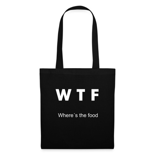 WTF(where`s the food) Tasche - Stoffbeutel