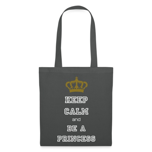 Keep calm and be a princess - Stofftasche - Stoffbeutel