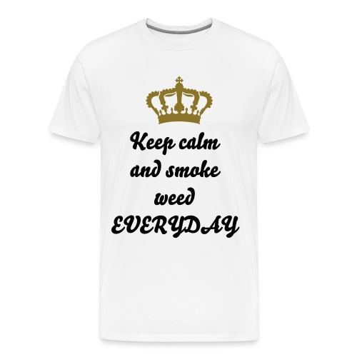 Keep Calm & smoke weed everyday - Männer Premium T-Shirt