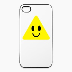 cute funny yellow triangle smiley smiling Phone & Tablet Cases
