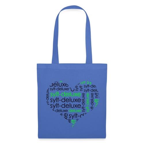 Sylt Deluxe Tasche mit Herz Motiv - Stoffbeutel