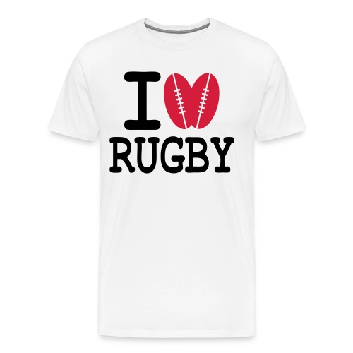 I love Rugby - T-shirt Premium Homme