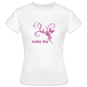 T-Shirt Ladies Day mit Glitzerdruck - Frauen T-Shirt