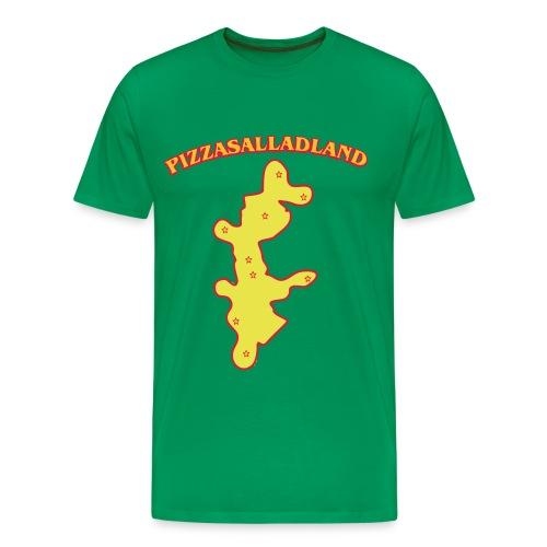 Pizzasalladland - Premium-T-shirt herr
