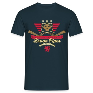 Broon pipes (navy) - Men's T-Shirt