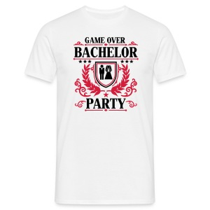 GAME OVER - BACHELOR PARTY - Männer T-Shirt