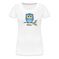 T-Shirts ~ Frauen Premium T-Shirt ~ Huhu - Eule