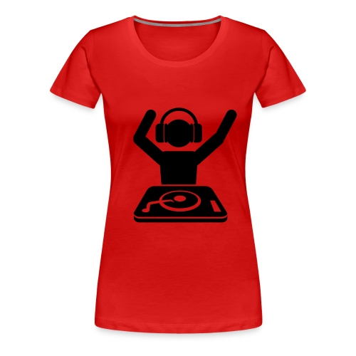 Mixing it up - old school way and wave your hands in the air - Women's Premium T-Shirt
