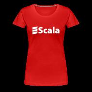 T-Shirts ~ Women's Premium T-Shirt ~ Women's Colour Slim Fit with Plain White Logo