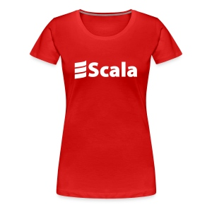 Women's Colour Slim Fit with Plain White Logo - Women's Premium T-Shirt