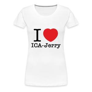 I heart ICA-Jerry Vit T-shirt Dam - Premium-T-shirt dam